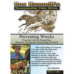A photo of a Horsemanship DVD , that helps people make adjustments to harness that will help them Preventing Wreckss