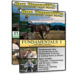 Photo of Horsemanship DVDs that describe for humans the fundamentals of working with horses in harness